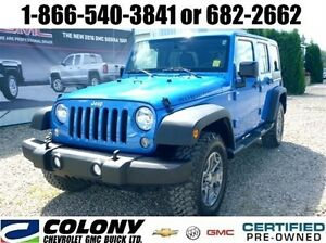 2014 Wrangler Unlimited Rubicon, Leather, Navigation, SK Tax Pd.