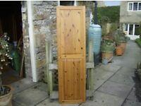 SINGLE PINE PANELLED CUPBOARD DOOR - very, very good condition £10