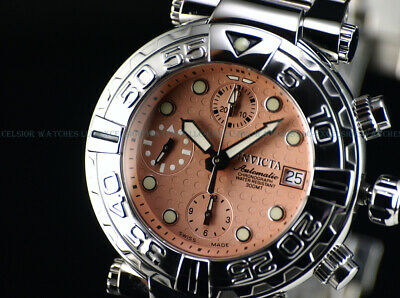 Invicta 42mm LE Dimple Dial Subaqua Swiss 7750 Automatic Chrono Sapphire Watch