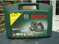 BOSCH Multi Saw PFZ 500E very, very little use. Versatile in its use for wood, plastic or metal