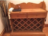 SOLID WOODEN CHAMPAGNE/WINE RACK / SIDEBOARD-CABINET - £65 ONO