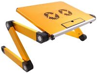 Portable Folding Laptop Table Desk Tray Stand with Cooling Pad