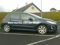 2012 Peugeot 308 1.6Hdi, Sat Nav, Alloys, £20 to Tax..