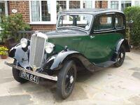 1936 Morris Eight 8, Series 1, Two Door, Fixed Head, Green & Black Original Reg