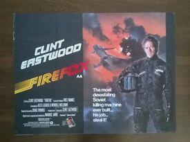 clint eastwood ' firefox ' original 1980s cinema poster