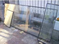3 double glazing glass panes in 3 sizes