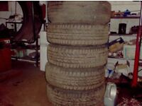 265 65 18 yokohama geolander a/t tyres x5 only done 100 miles