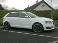 2012 Audi A3 1.6Tdi Sportback, In White, 18inch Black Edition Alloys.