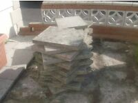 Large and small patio slabs various colours