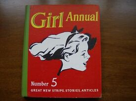 Girl Annuals Number 5 and Number 6. Hardback - 1950s