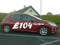 2013 Peugeot 308 1.6Hdi Active, Full History, £20 tax.