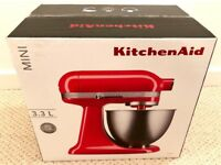Brand New KitchenAid Artisan Mini Stand Mixer 3.3L - 5KSM3311XBHT