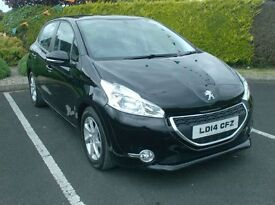 2014 Peugeot 208 1.6hdi E-Active, free tax , Very low miles. finance available