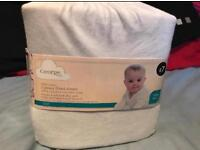 2 Brand new fitted cot sheets