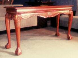 Stunning console table with beautiful detail and claw feet