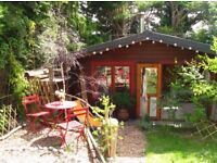 Lovely 3 - 4 bed house in Lewes, with large log cabin & great garden