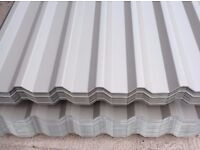 Light Grey Coated Metal Galvanised Roofing & Cladding Sheets ideal for Garages