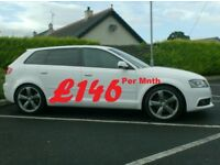 2012 Audi A3 2.0Tdi S Line Black Edition, In White. £30 tax.