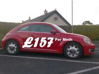 2012 Vw Beetle 2.0Tdi Design 140bhp 6 Speed, bright Red..