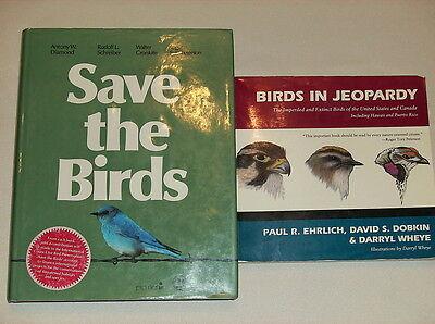 Lot of 2 Books on Threatened Bird Species Saving Birds Ornithology Bird Watching