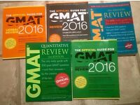 The official guide for GMAT 2016, 5 books, good condition