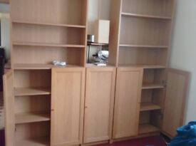 Pair of matching bookcases.