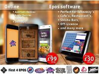 Epos software perfect for Takeaway's, Cafe's, Restaurant's, Shisha Bars, Off-Licence and many more