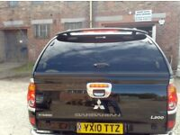 mitsubishi l200 2010 on canopy long bed