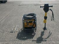 JCB BEAVER BREAKER POWER PACK (Honda Engine c/w HM25LV Hammer & x3 New Chisels)