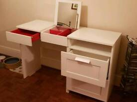 IKEA Brimnes Dressing and Bedside Table