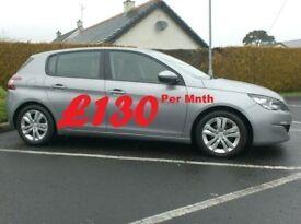 2014 Peugeot 3081.6Hdi Active, with Nav, parking sensors.