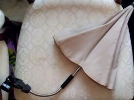 Parasol in fawn NEVER USED brand new.