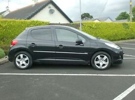 2012 Peugeot 207 1.6Hdi Sportium, High Spec, with Nav, low miles..