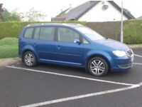 2008 Vw Touran 1.9Tdi, In Blue, Full History, just in from the Uk.
