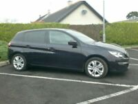 2014 Peugeot 308 1.6Hdi Active, free tax, Sat Nav, Finance available