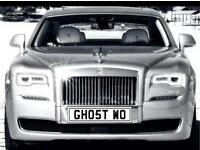 Ghost Private number plate, Rolls Royce GHOST