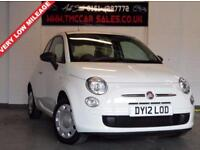 FIAT 500 1.2 POP 3d 69 BHP £30 TAX PER TEAR (white) 2012