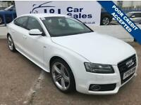 AUDI A5 3.0 SPORTBACK TDI QUATTRO S LINE 5d AUTO 240 BHP A GREAT EXAMPLE INSIDE AND OUT (white) 2009