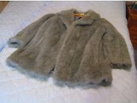 Silver Grey Faux fur jacket
