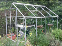 8 x 6 greenhouse with glass and timber base