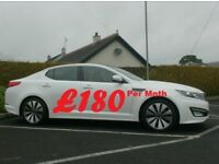 2012 Kia Optima 2 Lux 1.7Crdi, Glass Roof, In White