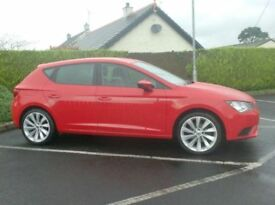 2014 Seat Leon 1.6Tdi, One Owner, Bright red, 18inch Alloys.