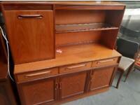 Vintage retro G plan mid century teak wooden sideboard tv cabinet book case 60s 70s