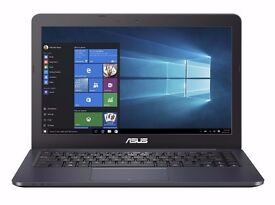 VGC ASUS E402 Laptop 2,4GHz, 2GB RAM, 64GB eMMC. 6 months old. Ultra light and massive battery life