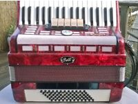 Galotta/ Bell accordion for sale, 72 bass, 5 discant and 3 bass registers