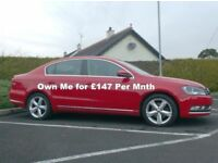 Vw Passat 1.6Tdi Se, Bright Red, service history £30 to tax..