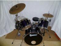 Premier Cabria 5 piece drum kit Midnight Blue