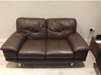2 DFS leather sofas for sale