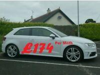 2013 Audi A3 1.6Tdi S'line One Owner, InWhite