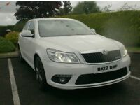 2012 Skoda Octavia 2.0Tdi Cr Vrs 170BHp, White, with black leather, finance available